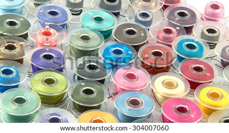 Colorful bobbins for background use
