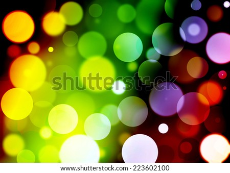 Colorful bokeh