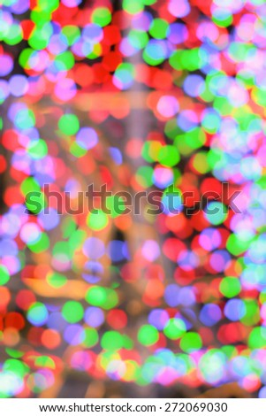 Colorful bokeh background, blurred background from night light