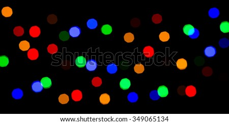 colorful bokeh background for christmas - stock photo