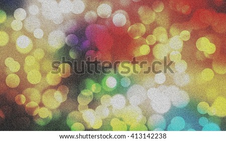 Colorful bokeh blur old vintage style abstract illustration graphic background