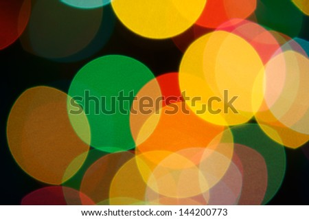 colorful bokeh from optical lens.