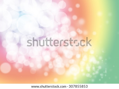 Colorful bokeh glitter defocused lights abstract background