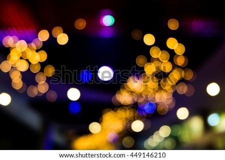 Colorful bokeh night - stock photo
