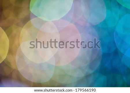 Colorful bokeh of light abstract background