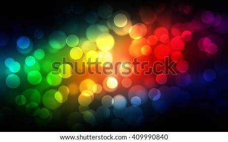Colorful bokeh style abstract illustration graphic background
