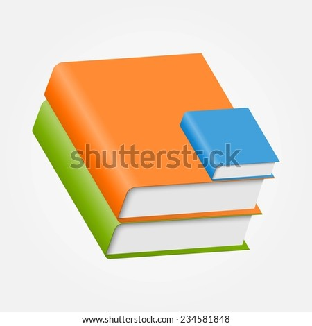 Colorful book icons - stock photo