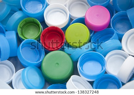 colorful bottle cap - stock photo