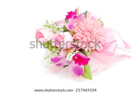 Colorful Bouquet on white background