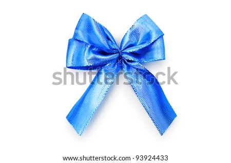 Colorful bow isolated on the white
