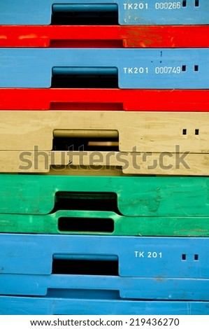 colorful boxes - stock photo