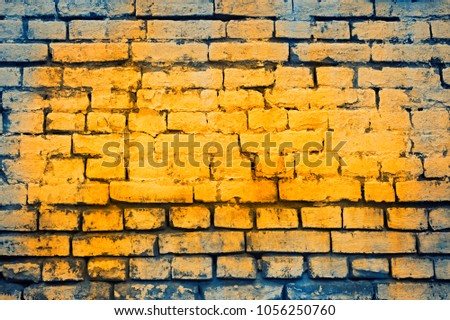 Colorful Brick Wall Background Stock Photo (Royalty Free) 1056250760 ...