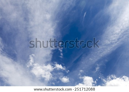 colorful bright blue sky background - stock photo