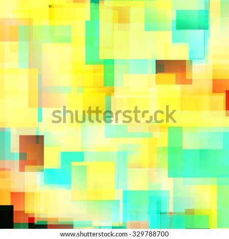 Colorful bright triangle polygon background or frame. Abstract  Geometrical Backdrop. Geometric design for business presentations or web template. sunny yellow, green, red. Illustration. - stock photo
