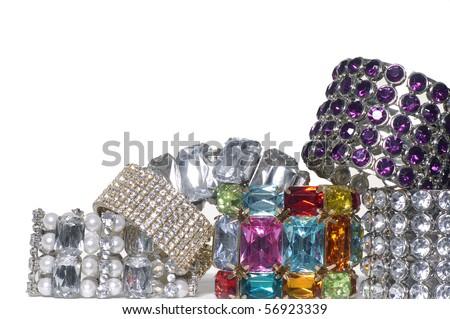 colorful brilliant bangles - stock photo