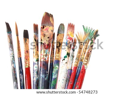 Colorful brushes - stock photo