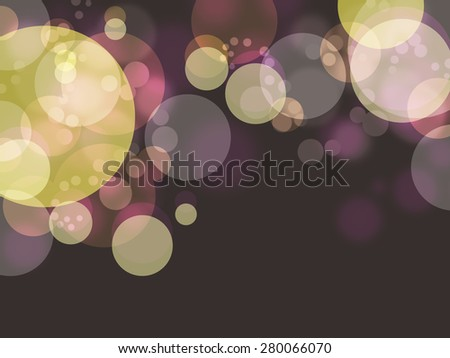 colorful bubble in dark shade background - stock photo