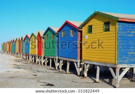 Colorful Bungalow Or Cottage Is A Small House On The Seafront Beach For Change