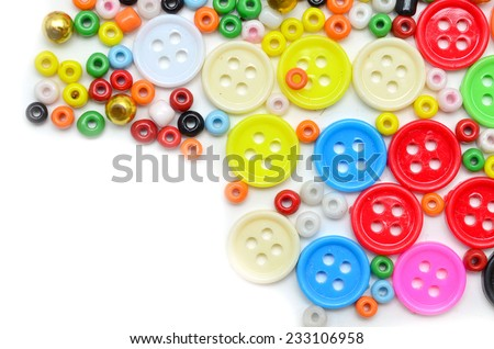 Colorful buttons and bead