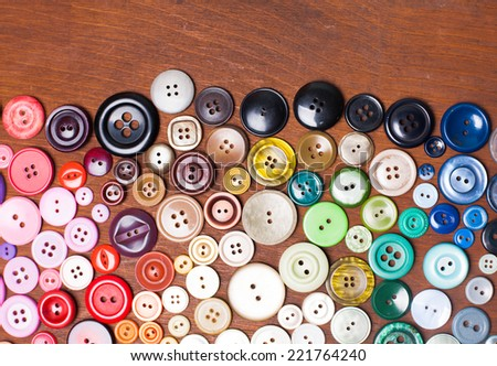 Colorful buttons as a rainbow background for design - stock photo