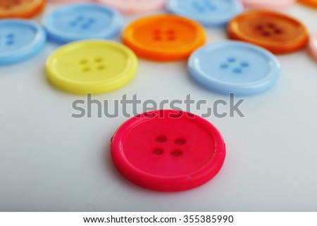 Colorful buttons, close up