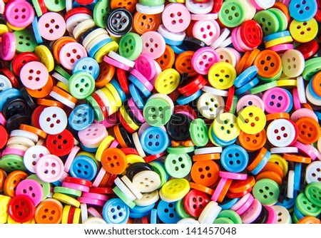 Colorful buttons,  Colorful  Clasper close up - stock photo