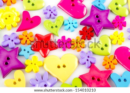 Colorful buttons on a white background - stock photo