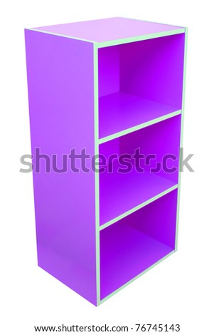 Colorful cabinet.