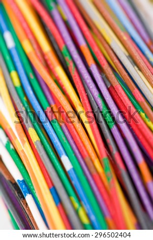 Colorful Cable, Concept of Communication, Data Line - stock photo