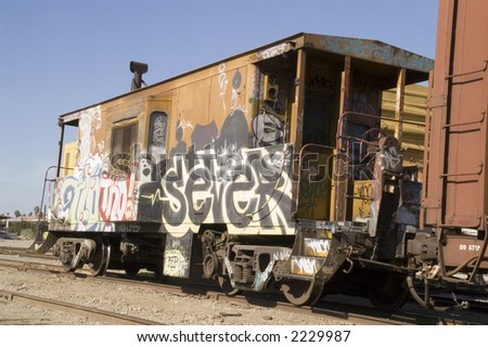 Colorful Caboose - stock photo