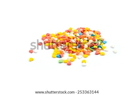 Colorful Cake Sprinkles - stock photo