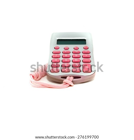 colorful calculators isolated on white background - stock photo