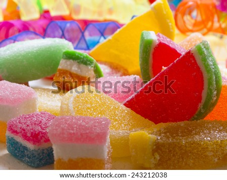 colorful candies,