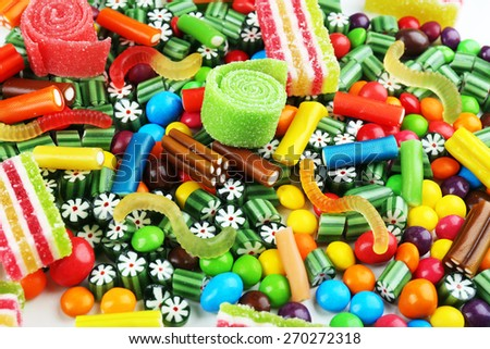 Colorful candies close-up - stock photo