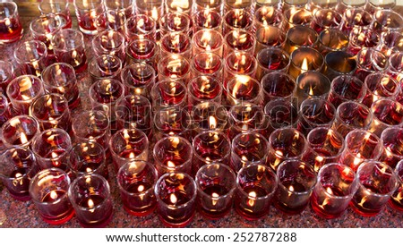 colorful candles - stock photo