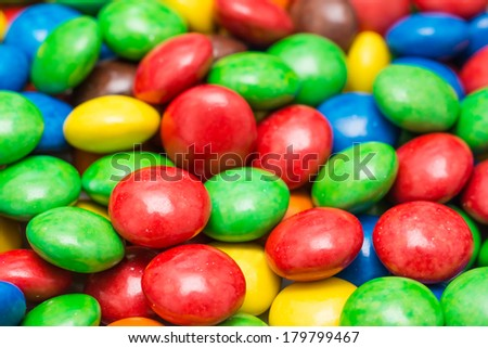 Colorful Candy Background Close Up