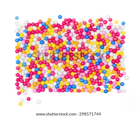 Colorful candy background, sugar sprinkle dots