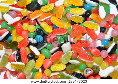 colorful candy childhood fantasies
