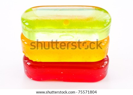 colorful candy closeup isolated on white background