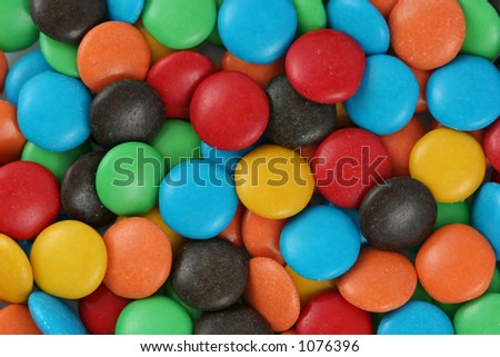 Colorful candy covered chocolate. - stock photo