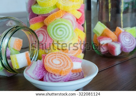 Colorful candy for child - stock photo