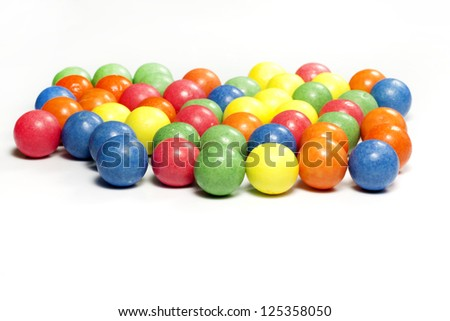 Colorful candy gum balls - stock photo