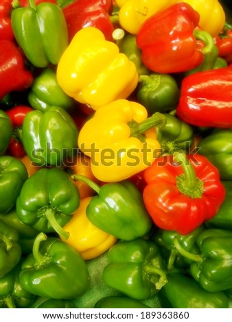 Colorful capsicum. - stock photo