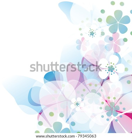 Colorful card with butterfly
