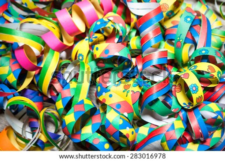 Colorful carnival streamers background texture