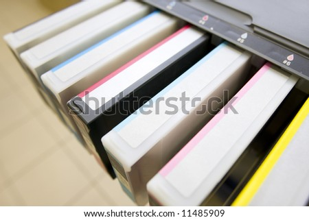 colorful cartridges - stock photo
