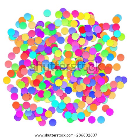 Colorful celebration background with confetti. Illustration