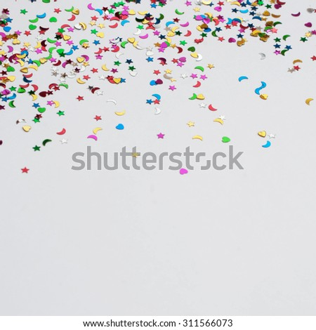 Colorful celebration confetti background