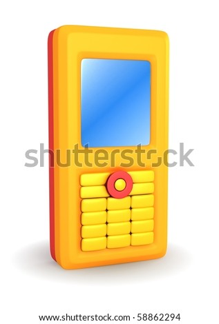 Colorful Cell Phone - stock photo
