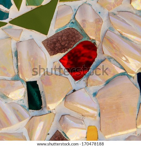Colorful ceramic background - stock photo
